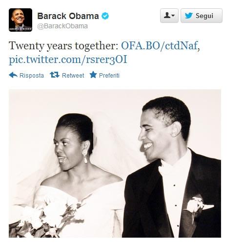 Obama vs Romney il giorno dell'anniversario di matrimonio