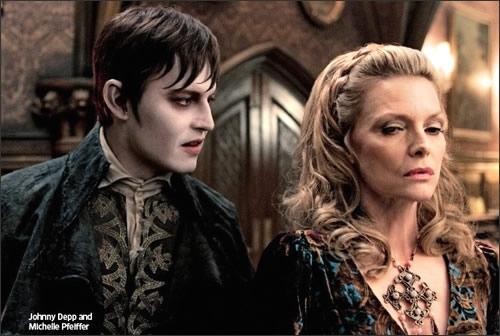 """La prima immagine di Johnny Depp e Michelle Pfeiffer in """"Dark Shadows"""" di Tim Burton"""