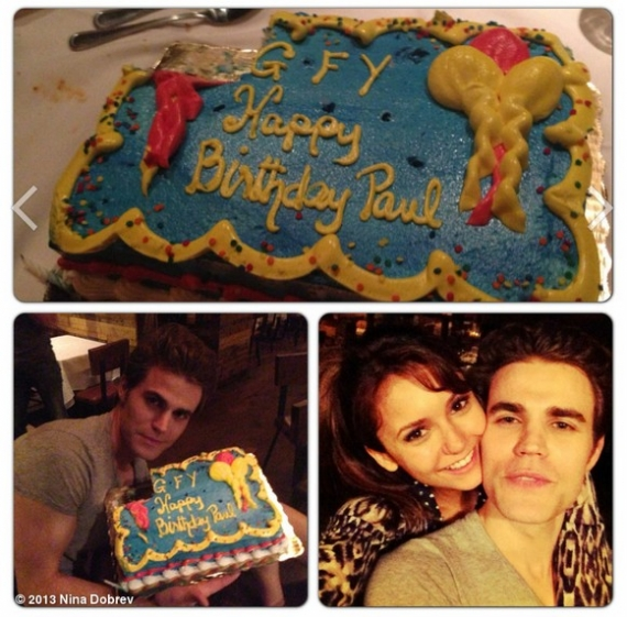 amici famosi, the vampire diaries, paul wesley, torrey de vitto, ian somerhalder, nina dobrev, set the vampire diaries, kat graham, claire holt, the originals, phoebe tonkin, matt roerig, candice accola, julie plec, compleanno