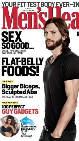 ashton kutcher, ashton kutcher copertina, ashton kutcher men's health, ashton kutcher intervista, ashton kutcher parla d'amore