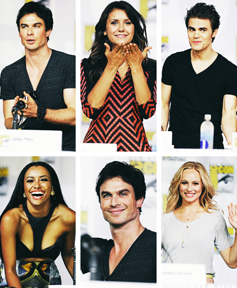 comic con, comic con 2013, the vampire diaries, anticipazioni quinta stagione the vampire diaries, anticipazioni the vampire diaries, nian dobrev, ian somerhalder, candice accola, paul wesley, intervista nina dobrev, intervista ian somerhalder, intervista paul wesley, cast the vampire diaries