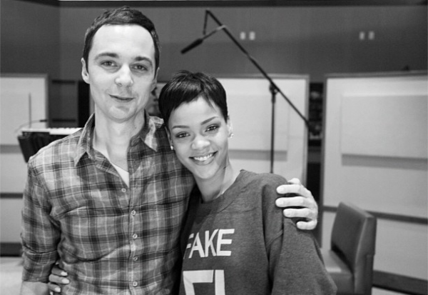 rihanna, jim parsons, the big bang theory, happy smedkay, sheldon cooper rihanna
