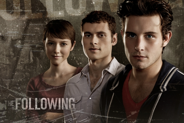 the following, kevin bacon, james purefoy, valorie curry, nico tortorella, adan canto, triangolo bisex the following