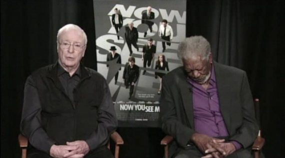 now you see me, morgan freeman, michael caine, isla fisher, jay leno