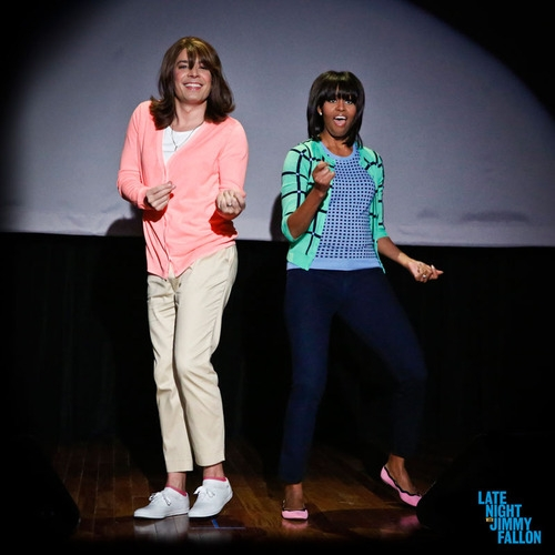 michelle obama, jimmy fallon, evolution of mom dance