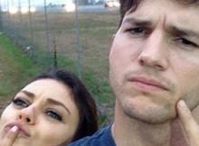 Ashton-kutcher-Instagram-selfie-picture-baby-pregnant
