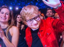 "Video grab of Ed Sheeran and his girlfriend Cherry Seaborn at the Brit Awards on Feb 21st.  Pop star Ed Sheeran has revealed that his fiancee MADE an engagement ring for him, after responding to rumours that he secretly tied the knot.  The Shape of You singer, who was spotted wearing a silver band on his wedding finger at a gig earlier this week, said his childhood sweetheart, Cherry Seaborn, made the ring for him out of silver plate.  The 27-year-old, whose interview on the red carpet at the BRIT Awards was shown on ITV's Lorraine this morning, said: ""It's the same commitment either way, so Cherry made it for me out of silver plate and I really like it. I haven't told anyone else about it yet.""  * No UK Papers Or Web * Magazines Only / Worldwide Rights  Pictured: Cherry Seaborn,Ed Sheeran Ref: SPL4188722 240218 NON-EXCLUSIVE Picture by: Flynet - SplashNews / SplashNews.com  Splash News and Pictures USA: +1 310-525-5808 London: +44 (0)20 8126 1009 Berlin: +49 175 3764 166 photodesk@splashnews.com  World Rights"