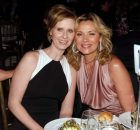 "Actress and Point Foundation Honoree Cynthia Nixon (left) and actress Kim Cattrall at the Point Foundation ""Point Honors The Arts"" Benefit at Capitale on March 7, 2008 in New York City (Photo by Jemal Countess/WireImage)"